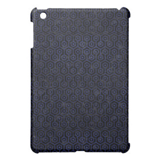 HEXAGON1 BLACK MARBLE & BLUE LEATHER iPad MINI CASES