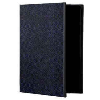 HEXAGON1 BLACK MARBLE & BLUE LEATHER POWIS iPad AIR 2 CASE