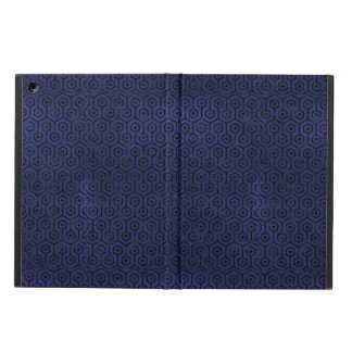 HEXAGON1 BLACK MARBLE & BLUE LEATHER (R) COVER FOR iPad AIR