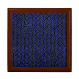 HEXAGON1 BLACK MARBLE & BLUE LEATHER (R) GIFT BOX
