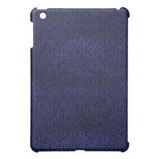 HEXAGON1 BLACK MARBLE & BLUE LEATHER (R) iPad MINI CASES