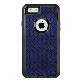HEXAGON1 BLACK MARBLE & BLUE LEATHER (R) OtterBox DEFENDER iPhone CASE