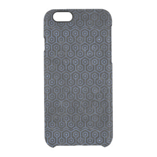 HEXAGON1 BLACK MARBLE & BLUE STONE CLEAR iPhone 6/6S CASE