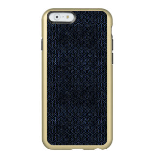 HEXAGON1 BLACK MARBLE & BLUE STONE INCIPIO FEATHER® SHINE iPhone 6 CASE