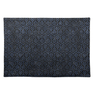 HEXAGON1 BLACK MARBLE & BLUE STONE PLACEMAT