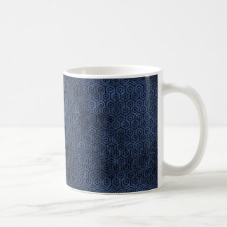 HEXAGON1 BLACK MARBLE & BLUE STONE (R) COFFEE MUG