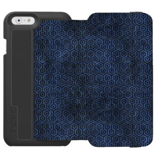 HEXAGON1 BLACK MARBLE & BLUE STONE (R) INCIPIO WATSON™ iPhone 6 WALLET CASE
