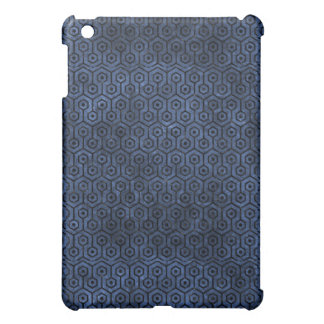HEXAGON1 BLACK MARBLE & BLUE STONE (R) iPad MINI CASES