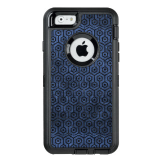 HEXAGON1 BLACK MARBLE & BLUE STONE (R) OtterBox DEFENDER iPhone CASE