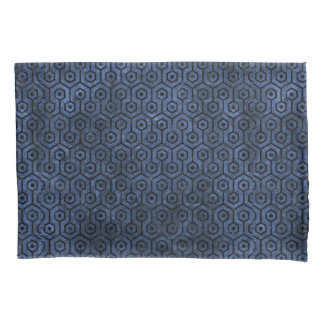 HEXAGON1 BLACK MARBLE & BLUE STONE (R) PILLOWCASE