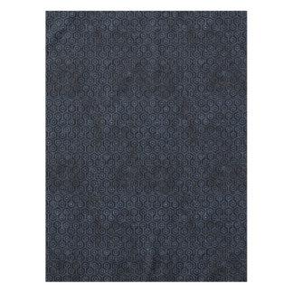 HEXAGON1 BLACK MARBLE & BLUE STONE TABLECLOTH