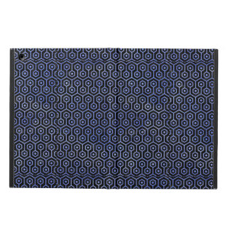 HEXAGON1 BLACK MARBLE & BLUE WATERCOLOR COVER FOR iPad AIR