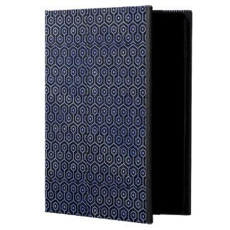 HEXAGON1 BLACK MARBLE & BLUE WATERCOLOR POWIS iPad AIR 2 CASE