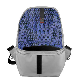 HEXAGON1 BLACK MARBLE & BLUE WATERCOLOR (R) COMMUTER BAGS