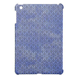 HEXAGON1 BLACK MARBLE & BLUE WATERCOLOR (R) iPad MINI COVERS