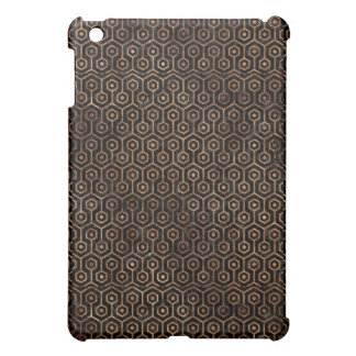 HEXAGON1 BLACK MARBLE & BROWN STONE COVER FOR THE iPad MINI