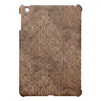 HEXAGON1 BLACK MARBLE & BROWN STONE (R) iPad MINI CASE