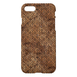 HEXAGON1 BLACK MARBLE & BROWN STONE (R) iPhone 8/7 CASE