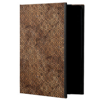 HEXAGON1 BLACK MARBLE & BROWN STONE (R) POWIS iPad AIR 2 CASE