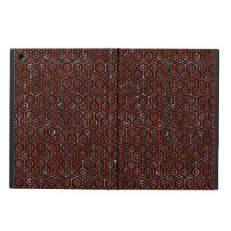 HEXAGON1 BLACK MARBLE & RED MARBLE iPad AIR COVER