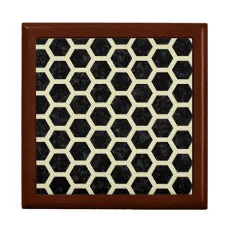 HEXAGON2 BLACK MARBLE & BEIGE LINEN GIFT BOX