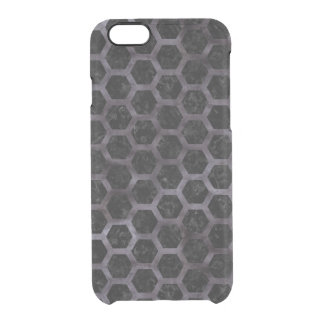 HEXAGON2 BLACK MARBLE & BLACK WATERCOLOR CLEAR iPhone 6/6S CASE