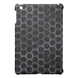 HEXAGON2 BLACK MARBLE & BLACK WATERCOLOR COVER FOR THE iPad MINI