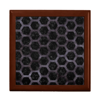 HEXAGON2 BLACK MARBLE & BLACK WATERCOLOR GIFT BOX