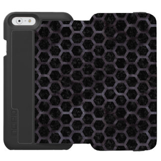 HEXAGON2 BLACK MARBLE & BLACK WATERCOLOR INCIPIO WATSON™ iPhone 6 WALLET CASE