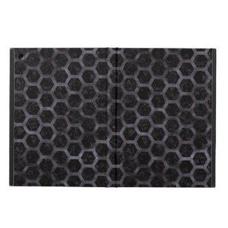 HEXAGON2 BLACK MARBLE & BLACK WATERCOLOR iPad AIR CASE