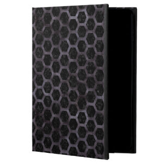 HEXAGON2 BLACK MARBLE & BLACK WATERCOLOR POWIS iPad AIR 2 CASE