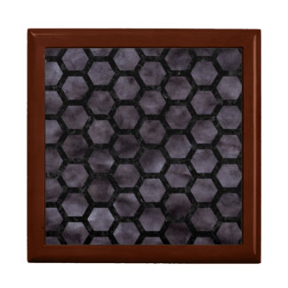HEXAGON2 BLACK MARBLE & BLACK WATERCOLOR (R) GIFT BOX