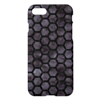 HEXAGON2 BLACK MARBLE & BLACK WATERCOLOR (R) iPhone 8/7 CASE
