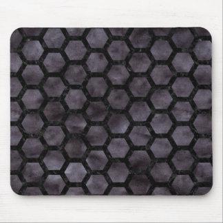 HEXAGON2 BLACK MARBLE & BLACK WATERCOLOR (R) MOUSE PAD