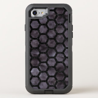 HEXAGON2 BLACK MARBLE & BLACK WATERCOLOR (R) OtterBox DEFENDER iPhone 8/7 CASE