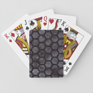 HEXAGON2 BLACK MARBLE & BLACK WATERCOLOR (R) PLAYING CARDS
