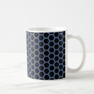 HEXAGON2 BLACK MARBLE & BLUE DENIM COFFEE MUG