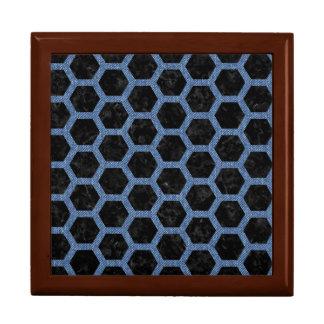 HEXAGON2 BLACK MARBLE & BLUE DENIM GIFT BOX