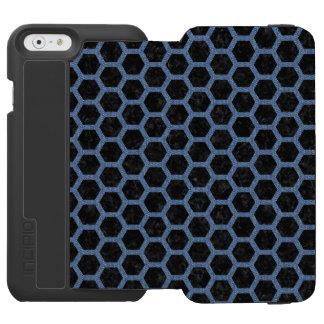 HEXAGON2 BLACK MARBLE & BLUE DENIM INCIPIO WATSON™ iPhone 6 WALLET CASE