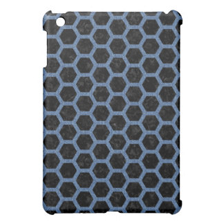 HEXAGON2 BLACK MARBLE & BLUE DENIM iPad MINI COVERS