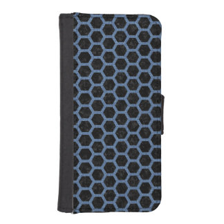 HEXAGON2 BLACK MARBLE & BLUE DENIM iPhone SE/5/5s WALLET CASE
