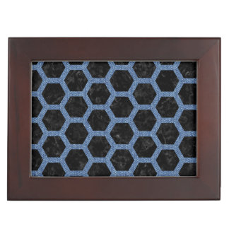 HEXAGON2 BLACK MARBLE & BLUE DENIM KEEPSAKE BOX
