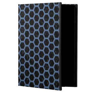 HEXAGON2 BLACK MARBLE & BLUE DENIM POWIS iPad AIR 2 CASE