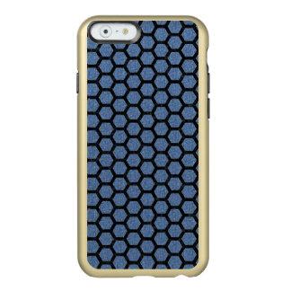 HEXAGON2 BLACK MARBLE & BLUE DENIM (R) INCIPIO FEATHER® SHINE iPhone 6 CASE