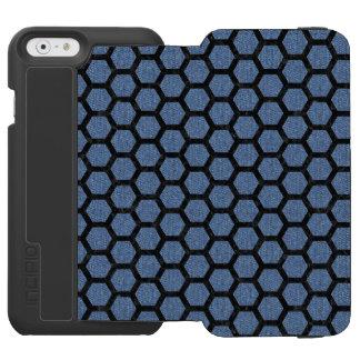 HEXAGON2 BLACK MARBLE & BLUE DENIM (R) INCIPIO WATSON™ iPhone 6 WALLET CASE