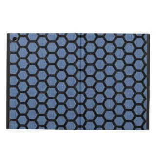 HEXAGON2 BLACK MARBLE & BLUE DENIM (R) iPad AIR COVER