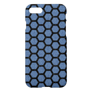 HEXAGON2 BLACK MARBLE & BLUE DENIM (R) iPhone 8/7 CASE