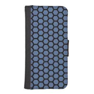 HEXAGON2 BLACK MARBLE & BLUE DENIM (R) iPhone SE/5/5s WALLET CASE