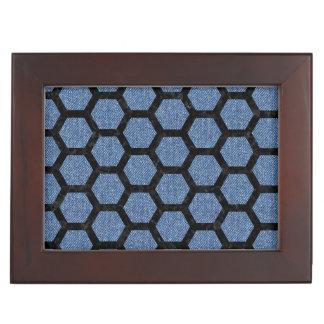 HEXAGON2 BLACK MARBLE & BLUE DENIM (R) KEEPSAKE BOX