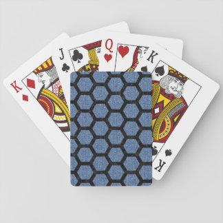 HEXAGON2 BLACK MARBLE & BLUE DENIM (R) PLAYING CARDS